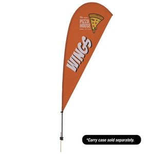 9.5' Value Teardrop Sail Sign - 1-Sided with Ground Spike