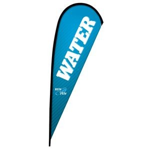 11.5' Premium Teardrop Sail Sign Flag, 1-Sided