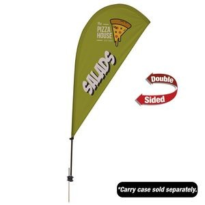 6.5' Value Teardrop Sail Sign - 2-Sided with Ground Spike