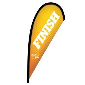 8' Premium Teardrop Sail Sign Flag, 1-Sided