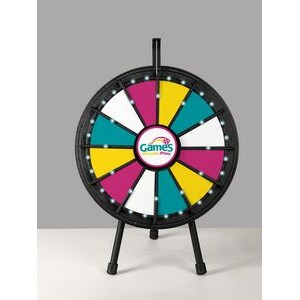 Black Mini Prize Wheel Game with Lights