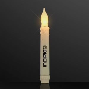 LED Taper Candles, Flickering Amber Light