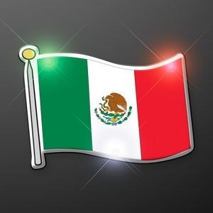 Mexican Flag Flashing Pin