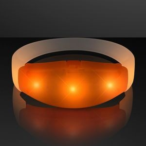 Orange LED Steady Illumination Stretch Bracelet