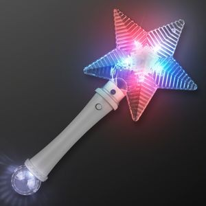 Patriotic Star Light Short Wand