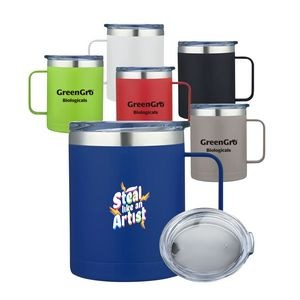 14oz. Custom Double Wall Vacuum Camping Mug w/ Handle