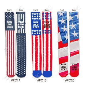 Flag Design 24 inch Knee High Tube Socks