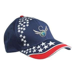 Cotton Twill 6 Panel Star Embroidered Cap