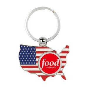 Patriotic USA Shaped Keychain