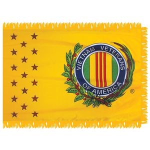 Vietnam Veterans of America 3' x 5' Indoor Flag with Pole Sleeve and Fringe