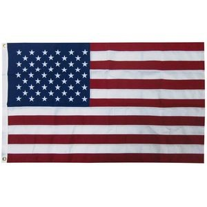 3' X 5' 2-ply Polyester U.S. Flag with Heading and Grommets