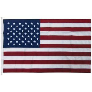 30' x 50' 2-ply Polyester U.S. Flag with Rope and Thimble